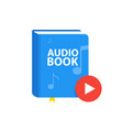 audio book icon with download play button online vector image vector image