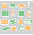Bedroom stickers set eps10 vector image