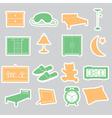 bedroom stickers set eps10 vector image vector image