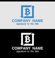 bitcoin concept cryptocurrency exchange example vector image vector image