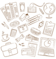 Business theme doodle vector image