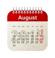 calendar 2015 - august vector image vector image