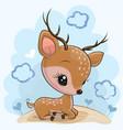 cartoon badeer on meadow vector image vector image