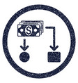 Cashflow rounded grainy icon