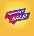 clearance sale tag sign vector image vector image