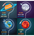 Colorful Space Flat Concepts vector image