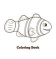 Coloring book clownfish fish cartoon