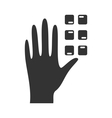 Disability pictogram braille flat icon hand vector image