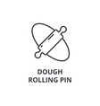 dough rolling pin line icon outline sign linear vector image vector image
