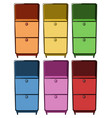 drawers in six different colors vector image
