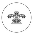 electric pole post high voltage set line icon vector image vector image