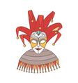 elegant festive mask jester or harlequin vector image
