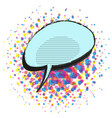 empty speech bubble on halftone background vector image vector image