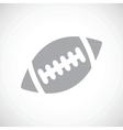 Football black icon vector image