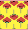 fresh slice of watermelon seamless pattern vector image vector image