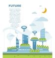 Future city landscape concept modern vector image vector image