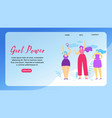 girl power horizontal banner with copy space vector image vector image