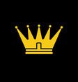 gold yellow crown icon symbol of king vector image vector image