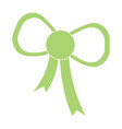 green bow icon vector image