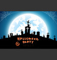 halloween backgroundfull moon on dark vector image vector image