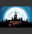 halloween festival backgroundfull moon on dark vector image vector image