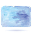 hand painted art of watercolor blue color paint on vector image