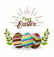 Happy easter rabbit day icon