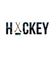 hockey word art vector image vector image