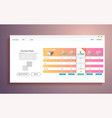 interface for the site ui banner for web vector image vector image