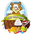 label with sweets vector image vector image