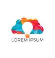 lightbulb cloud logo design vector image vector image