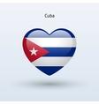 Love Cuba symbol Heart flag icon vector image vector image