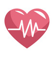 medical heartbeat symbol vector image vector image