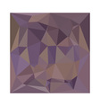 Medium Purple Abstract Low Polygon Background vector image vector image