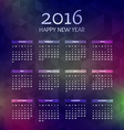 new year 2016 calender vector image vector image