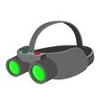 Night vision device cartoon icon vector image