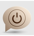 On Off switch sign Brown gradient icon on bubble vector image