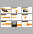 orange presentation templates infographic