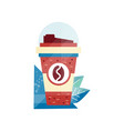 paper coffee cup on a white vector image
