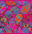 patchwork pattern with paisley ornament patterns vector image