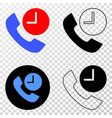 phone call time eps icon with contour vector image