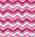 Pink zig zag seamless pattern vector image vector image