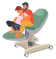 pregnancy preparing wife and husband make a vector image