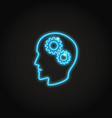 psychology concept neon icon in line style vector image