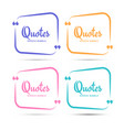 quote box frame quotation bubble or quotes vector image vector image
