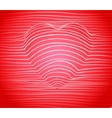 rad heart valentines day background vector image