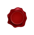 red wax stamp with blank space for text on the vector image vector image