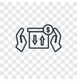 reward concept linear icon isolated on vector image