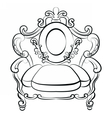 Royal Armchair set in Baroque Rococo style vector image vector image