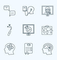 school icons line style set with hydrology vector image vector image